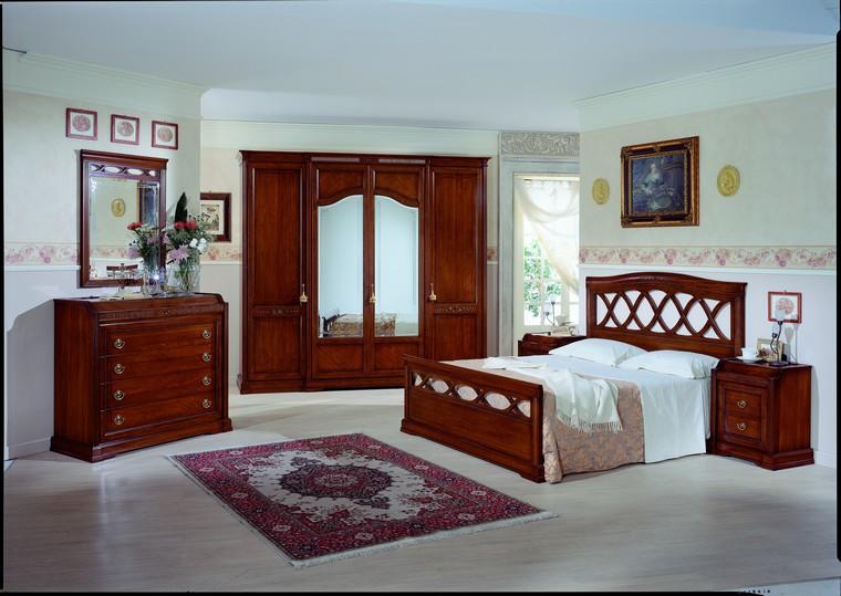 Camere da letto collezione victoria noce - Camera da letto in noce ...