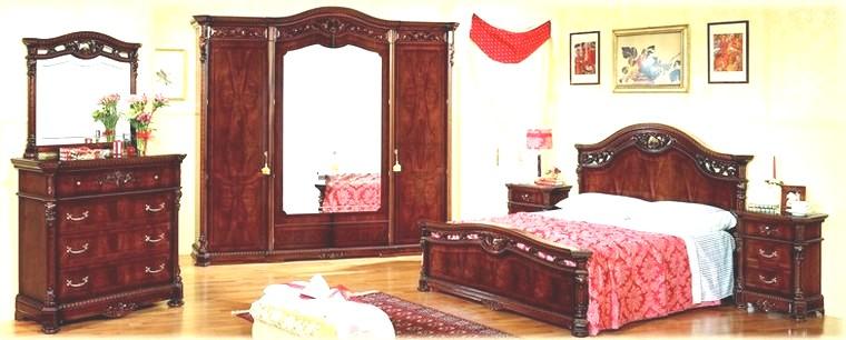 Camere da letto collezione 800 siciliano noce - Camera da letto in noce ...